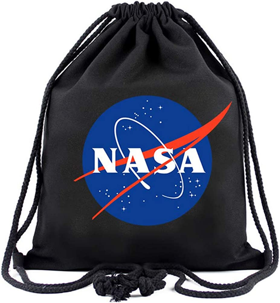 Drawstring Backpack Astronaut Space Mars Shoulder Bags
