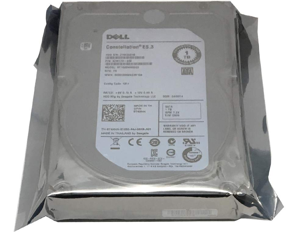 DELL/Seagate ST1000NM0033 1TB 7200RPM 128MB Cache SATA 6Gb/s 3.5-inch Internal Hard Drive OEM - w/1 Year Warranty