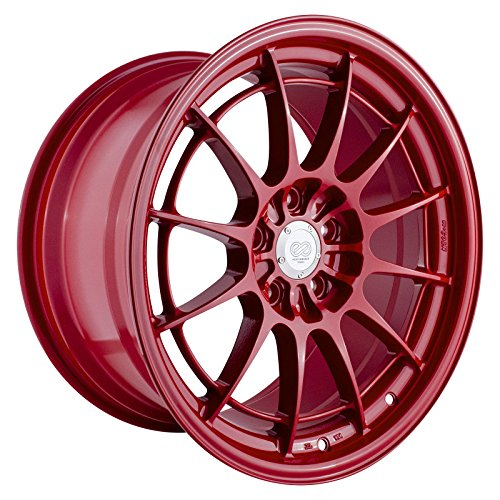 Enkei NT03+M 18x9.5 5x114.3 40mm Offset 72.6mm Bore Competition Red Wheel