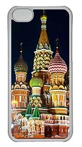 Custom iPhone 5C Case Moscow Saint Basils Cathedral iPhone 5C Hard Case - Polycarbonate - Transparent