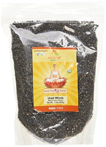Vedica Organics - Organic Urad Whole (Black Gram Whole) (2 Lbs)