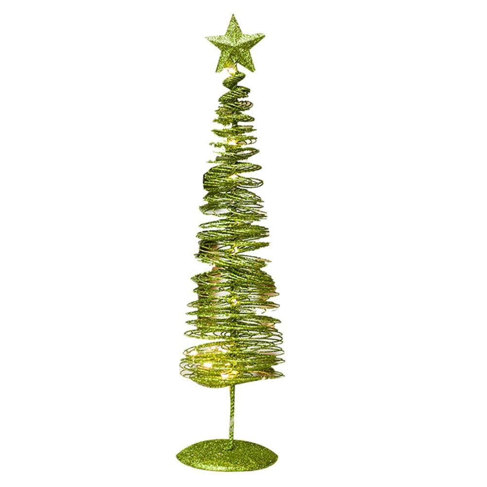 Jamakie Christmas Tree Shaped Winding Light Decoration,Pentagram Tree Top,Ornament Innovative Winding Lights Metal Decorations