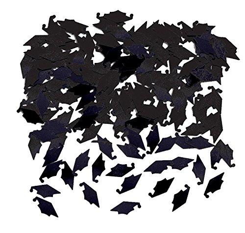 Creative Converting Graduation Caps Confetti, Black (2-Pack)