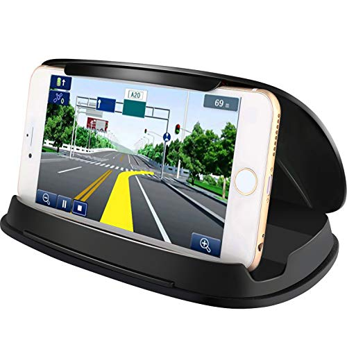 Cell Phone Holder for Car, Car Phone Mounts for iPhone 7 Plus, Dashboard GPS Holder Mounting in Vehicle for Samsung Galaxy S8, and Other 3-6.8 Inch Universal Smartphones and GPS ()