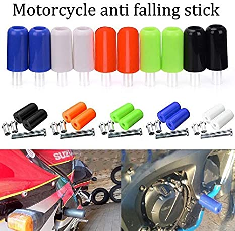 10MM 2PCS Universal Motorcycle Frame Sliders Motos Anti Crash Pad Anticaida for Suzuki GSR 750 Yamaha MT 09 Falling Protector Color : Black