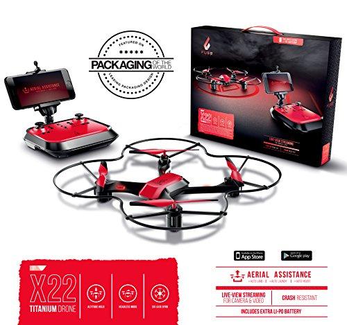 Fuse X22 Live-View WiFi FPV Drone | Auto Hover | Auto Take-Off