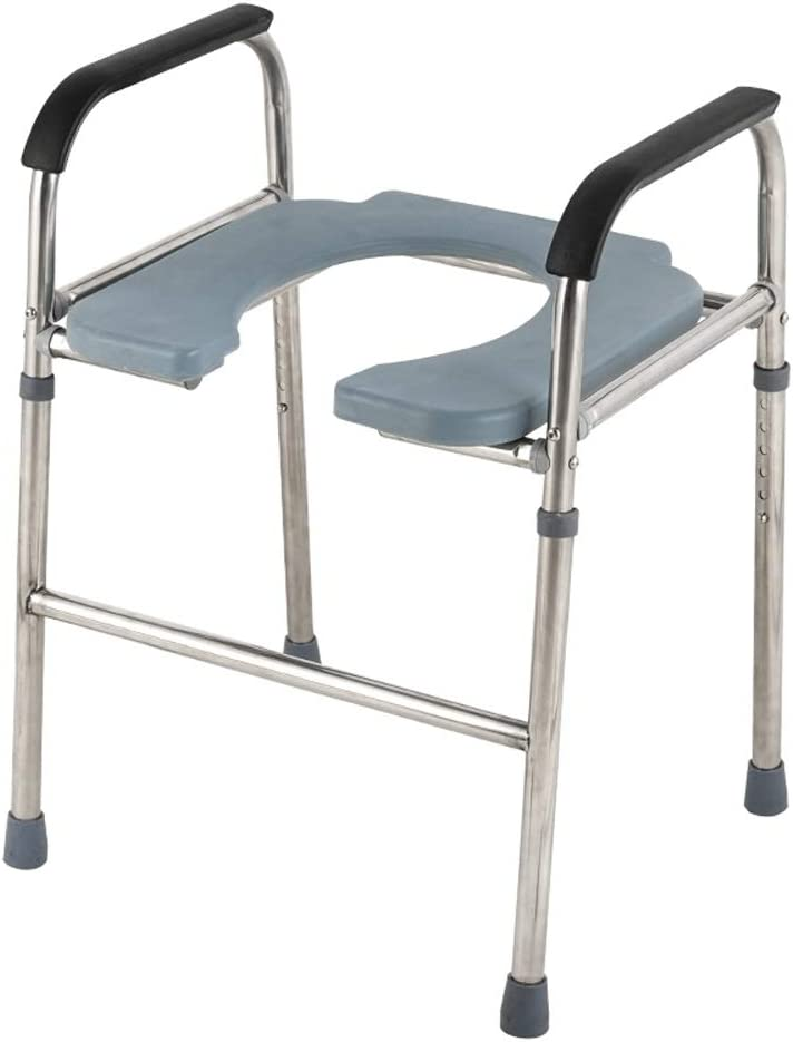 Axd Elderly Toilet Safety Surround Frame Chair, Adjustable Stainless Steel Bathroom Shower Stool Schiene mit Anti-Rutsch Handrail