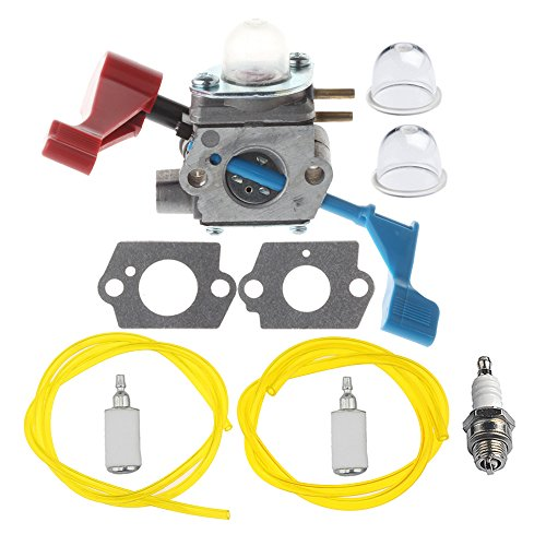 HIPA C1U-W12A Carburetor with Fuel Line Filter Repower Kit Spark Plug for Poulan FL1500 FL1500LE Leaf Blower C1U-W12B ()