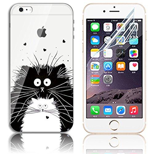 Transparente TPU Funda para iPhone 6 Plus 5.5 Silicona Gel Sunroyal Resistente a los Arañazos en su Parte Trasera Flexible Bumper Case Cover [Anti-Gota] [Choque Absorción] Ultra Fina Protectora Alta  A-05