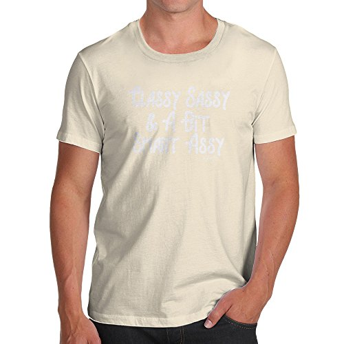 TWISTED ENVY Funny T-Shirts for Men Sarcasm Classy Sassy and A Bit Smart Assy Medium Natural - Assy Peel