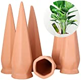 Automatic Vacation Plant Watering Devices ,Terracotta Self Watering Stakes for Home and Vacation Plant Watering,Plant Watering Devices (6 Pack)