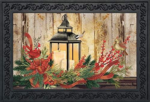 Briarwood Lane Holiday Lantern Christmas Doormat Rustic Cardinals Indoor Outdoor 18 x 30