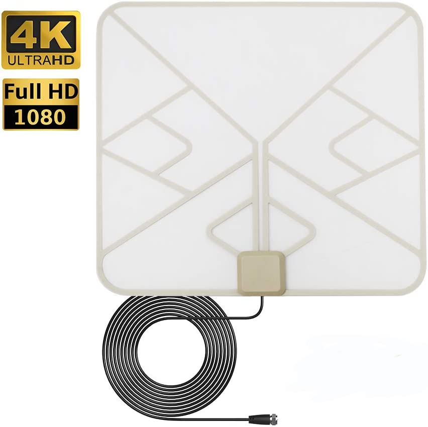 ANTAN Indoor Window Hdtv Antenna Up to 40-50 Miles Range-Transparentn Soft Design Support 4K 1080P VHF UHF Freeview Television Local Channels-witht Longer 16.5ft Coax Cable