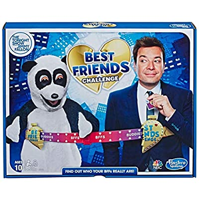 Hasbro Gaming The Tonight Show Starring Jimmy Fallon Best Friends Challenge Party Game for Teens & Adults: Toys & Games