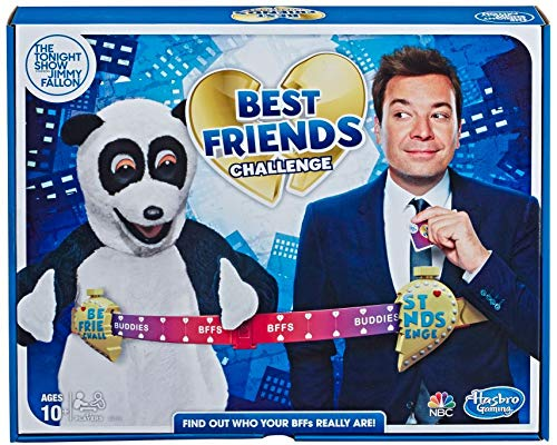 Hasbro Gaming The Tonight Show Starring Jimmy Fallon Best Friends Challenge Party Game for Teens and Adults
