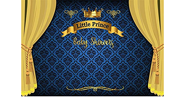 Jewderm 9x6ft Photography Backdrop Happy Birthday Little Prince Photo Background Blue Flowers for Boy Party Wall Decoration Photographic Studio Props