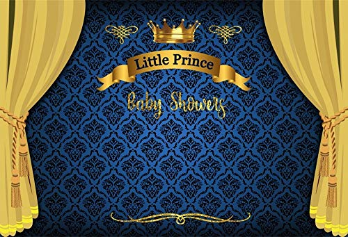 LFEEY 5x3ft Little Prince Baby Shower Backdrop Boy