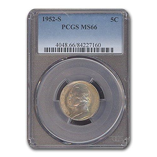 1952 S Jefferson Nickel MS-66 PCGS Nickel MS-66 PCGS
