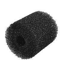 Uxcell Jardin Reusable Cylinder Shaped Biochemical Filter Sponge for Aquarium, Black