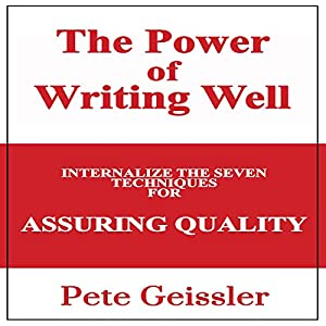 Writing: Internalize the Seven Techniques for Assuring Quality Audiobook