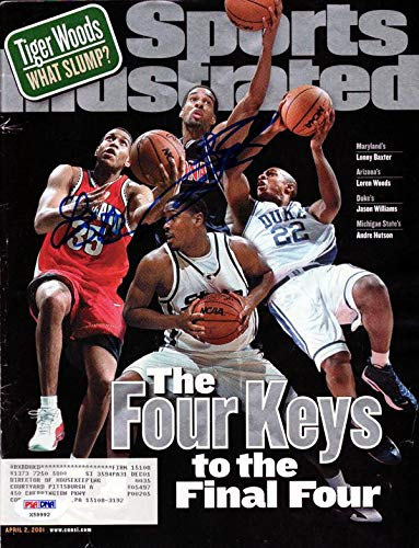 Lonny Baxter & Loren Woods Autographed Sports Illustrated Magazine #X59992 PSA/DNA Certified Autographed NBA Magazines