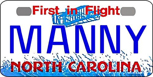 Personalized North Carolina Bicycle Replica License Plate any ()