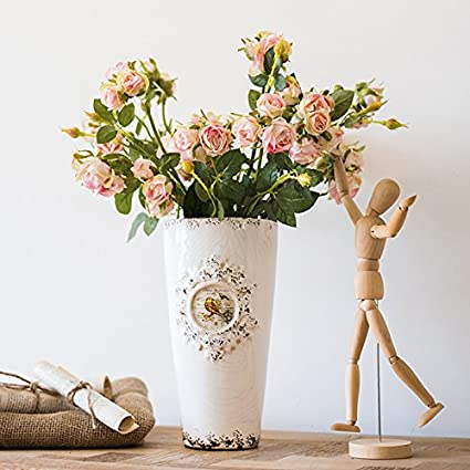 ZHUDJ Sr. Ronald Garantizar Kit Rosas Decoradas Con Motivos Florales En El Salón Mesa Flores