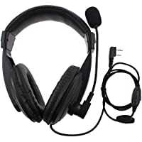 AOER 2 Pin Professional Noise Cancelling Overhead Earpiece Headset with Boom Mic Microphone for Kenwood Radio TK3173 TK3200 TK3202 TK3207 TK3230