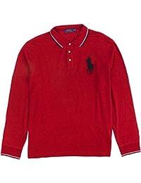 Polo Ralph Lauren Men's Long-Sleeve Mesh Big Pony Polo Shirt