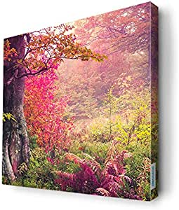 Forest and roses Wall Canvas by Decalac,30X 30cm - 19027