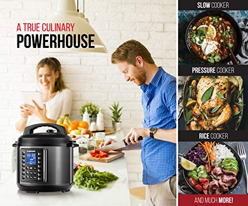 Chefman Qt Multicooker 14 Presets Slow, Rice Soup/Broth Quart