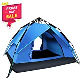 Argus Le Automatic Instant Tents for Camping, Easy Setup Waterproof Tents with Sun Shelter for 2 to 3 Person, Family, Pop Up Tent with Carry Bag for Backpacking, Hiking, Beach (Dark Blue)