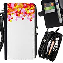 Balloons Berries White Minimalist - Flip Credit Card Slots Pu Holster Leather Wallet Pouch Protective Skin Case Cover For Sony Xperia T3