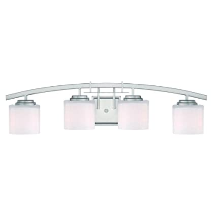 Hampton bay 15042 architecture 4 light brushed nickel vanity light hampton bay 15042 architecture 4 light brushed nickel vanity light wall sconces amazon mozeypictures Images
