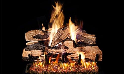 Real Fyre 20-inch Split Oak Designer Plus Vented Gas Logs Bundled with G4 Burner Kit (Propane) by RealFyre