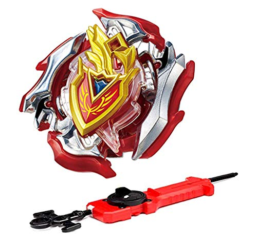 LAZORA Bey Battle Burst Blade Turbo Evolution B-105 Bey Achilles 11XT Starter with Sword Launcher Toy for Prime