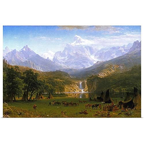 GREATBIGCANVAS Poster Print Entitled The Rocky Mountains, Lander's Peak by Albert (1830-1902) Bierstadt 48