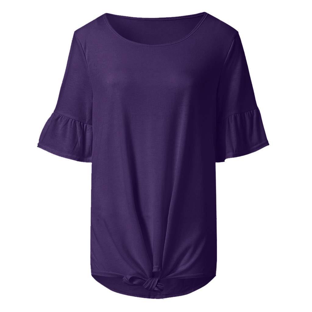 AOJIAN Shirts for Women,t Shirts for Men Pack,Shirts for Teen Girls,Shirts for Women, Shirts for Teens,Shirts for Men Long Sleeve,Shirts for Girls,Shirts for Boys,Shirts to wear with Leggings Purple by AOJIAN (Image #3)