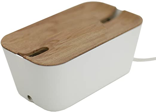 Bosign 291169 HIDEAWAY Organizador de Cables, Caja para Cables y Estación de Carga, color Blanco/Natural, Mediano, 30 x 18 x 14 cm: Amazon.es: Videojuegos