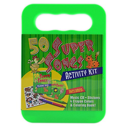 Price comparison product image 50 Silly Songs CD Activity Kit (Packaged in carrying case with Stickers,  Crayons and Coloring Book)