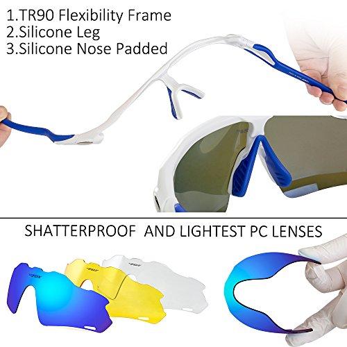 b306122d6c4 BATFOX Polarized Sports Sunglasses Glasses TAC Running Cycling Baseball  Fishing Golf Softball Outdoor for Men Women