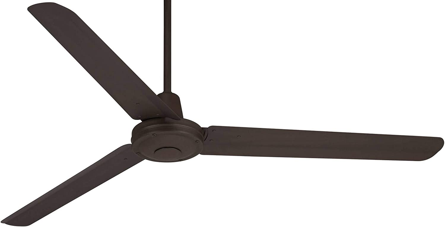 60 Turbina Modern Industrial Outdoor Ceiling Fan Remote Control Oil Rubbed Bronze Damp Rated for Patio Porch – Casa Vieja