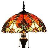 Tiffany Style Reading Floor Lamp Table Desk Lighting RED LIAISON W16H64 E26