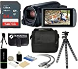 The Imaging World R800 BK K1 Canon VIXIA HF R800 57X Zoom Full HD 1080P Video Camcorder (Black) + 64GB Card + Case + Tripod + Digital...
