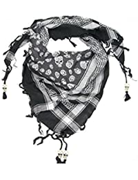 Skull Scarf for Men and Women - Trendy cotton square skull scarf
