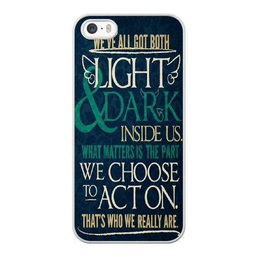 Coque,Apple Coque iphone 5/5S/SE Case Coque, Generic Etymology And Harry Potter Cover Case Cover for Coque iphone 5 5S SE blanc Hard Plastic Phone Case Cover