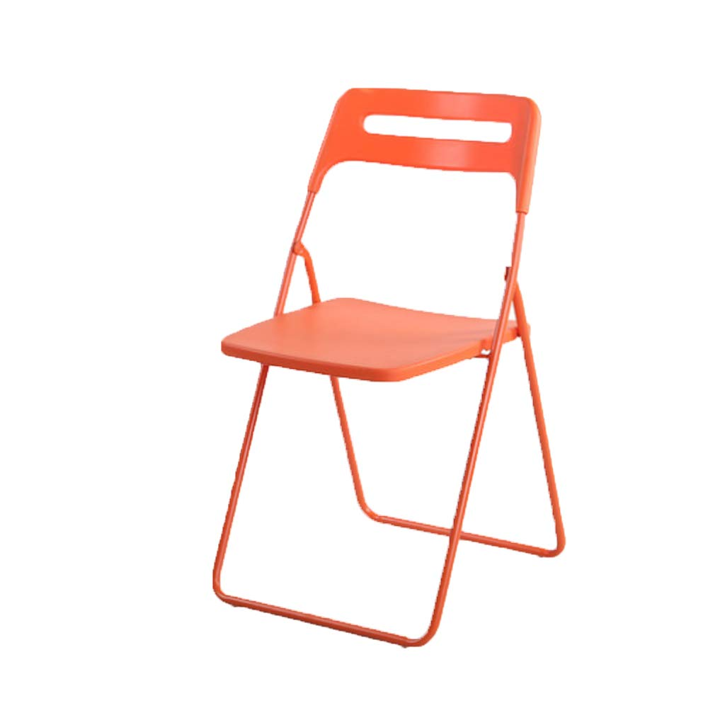 orange FXNN Folding Chair - Home Portable Chair Adult Dining Chair (color   RED)