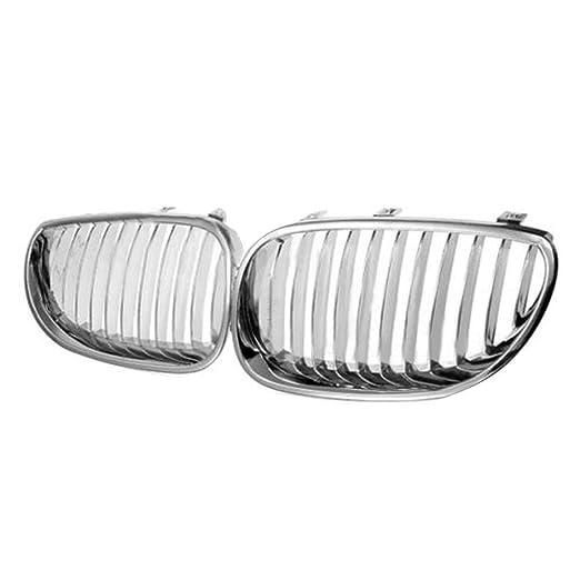 Ben-gi 1 par de galvanoplastia de Plata Rejillas Grill para BMW E60 E61 M5 5 Serie 2003-2009