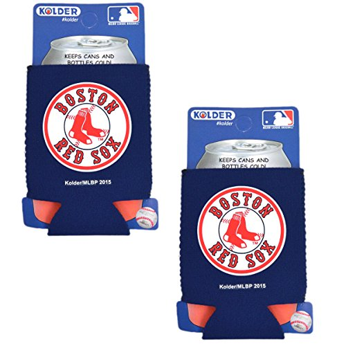 Official Major League Baseball Fan Shop Authentic 2-Pack MLB Insulated 12 Oz Can Cooler (Boston Red Sox)