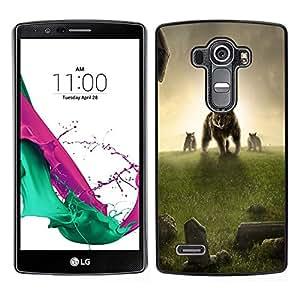 LECELL--Funda protectora / Cubierta / Piel For LG G4 -- Oso Prado Hierba Sunset Fantasy --